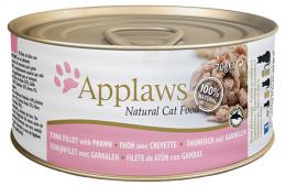 Konzerva Applaws Cat tuňák & krevety 70g