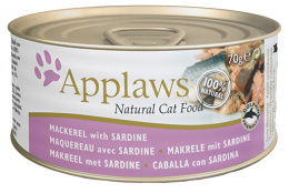 Konzerva Applaws Cat makrela & sardinky 70g