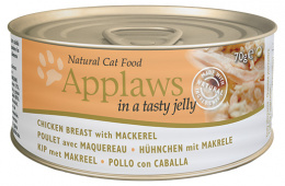 Konzerva Applaws Cat kuře & makrela v želé 70g