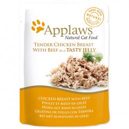 Kapsička Applaws cat kuře, hovězí v želé 70g