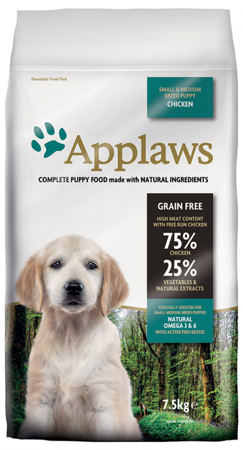 Krmivo Applaws Dry Dog Chicken Small & Medium Breed Puppy 7.5kg