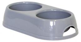 Dvojmiska MAGIC CAT plastová šedá 2 x 230 ml