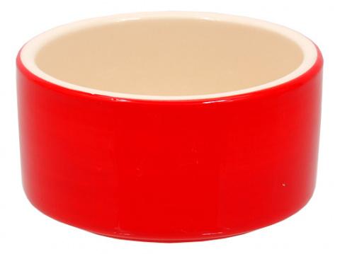 Miska SMALL ANIMAL keramická červená 10 cm