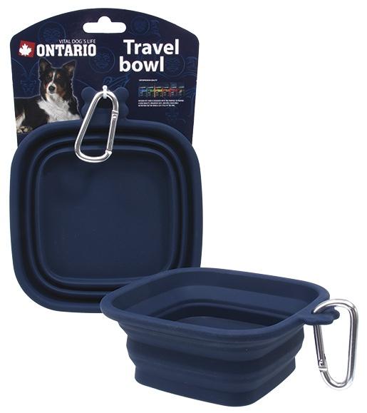 Ontario miska cestovní silikonová S