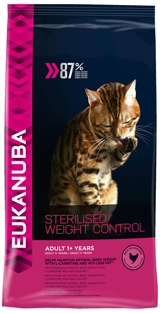 Eukanuba Cat Adult Chicken Sterilised / Weight Control 1.5kg