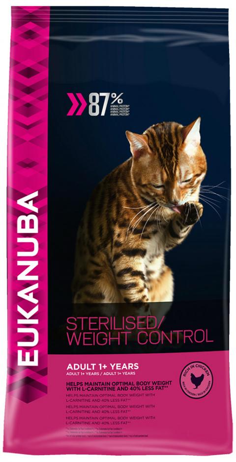 Eukanuba Cat Adult Chicken Sterilised / Weight Control 3kg title=