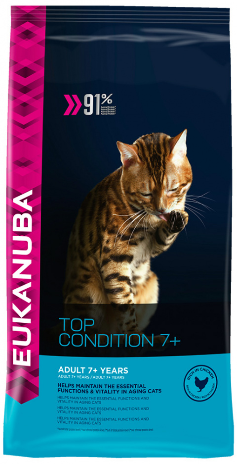 Eukanuba Cat Senior Chicken 4kg title=