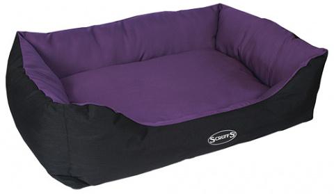 Pelíšek SCRUFFS Expedition Box Bed švestkový 90cm