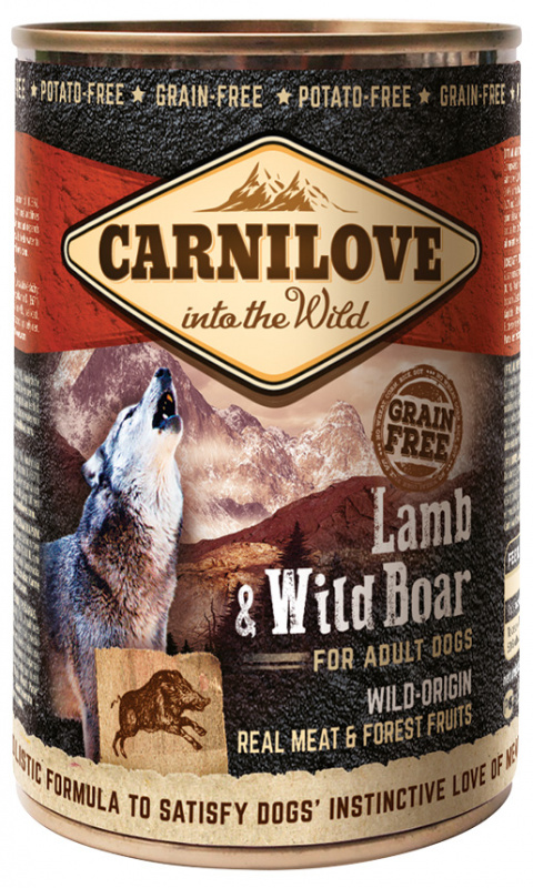 Konzerva Carnilove Wild Meat Lamb & Wild Boar 400g title=
