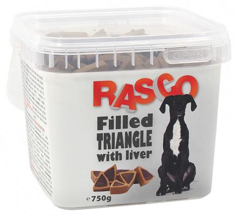 Pochoutka Rasco plněný trojúhelníček sjátry 1cm 750g title=