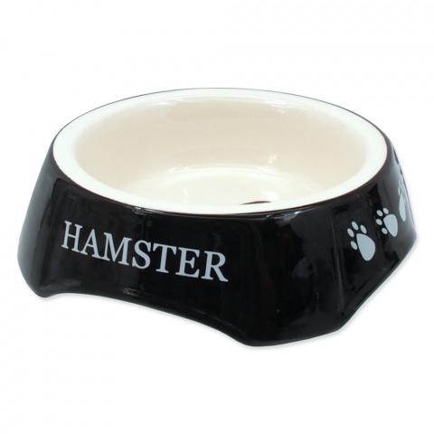 Miska SMALL ANIMAL potisk Hamster černá 13x13x4cm