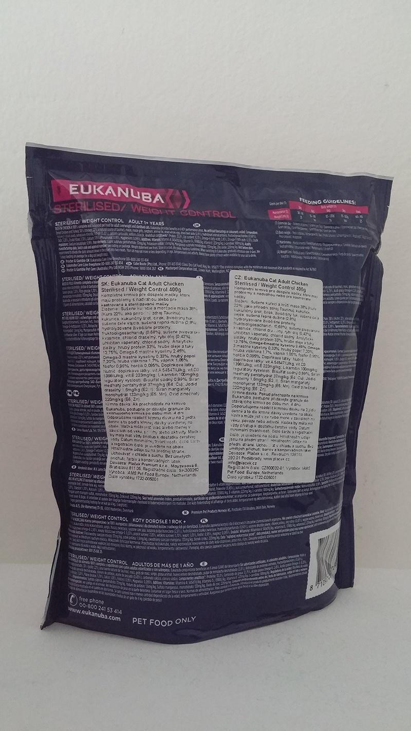 Eukanuba Cat Adult Chicken Sterilised / Weight Control 400g