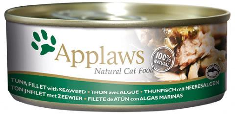 Konzerva Applaws Cat Tuna Fillet & Seaweed 70g title=