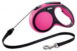 Vodítko Flexi New Comfort lanko M 5m růžové