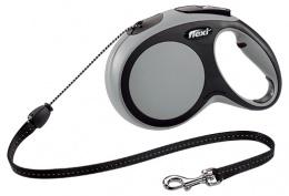 Vodítko Flexi New Comfort lanko M 8m šedé