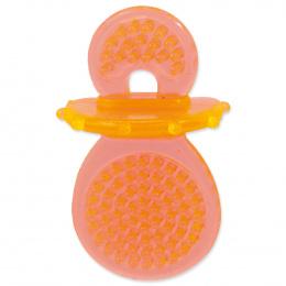 Hračka Dog Fantasy dudlík guma oranžová 8cm