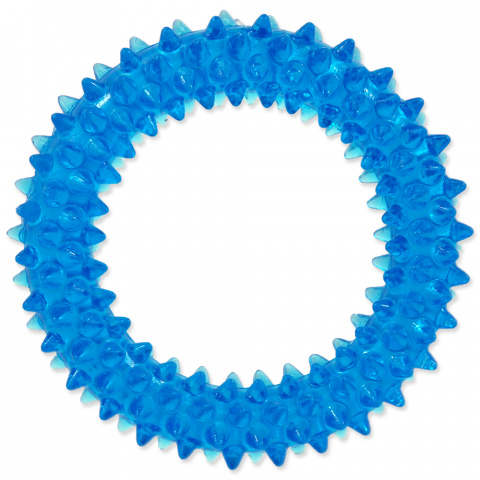 Hračka Dog Fantasy kroužek vroubkovaný modrá 7cm title=