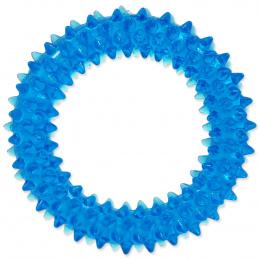 Hračka Dog Fantasy kroužek vroubkovaný modrá 7cm