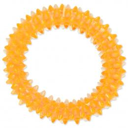 Hračka Dog Fantasy kroužek vroubkovaný oranžová 7cm
