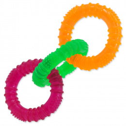 Hračka Dog Fantasy 3 kruhy guma barevná 16cm