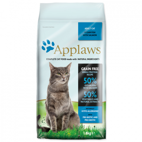 Krmivo Applaws Dry Cat mořské ryby, losos 1.8kg
