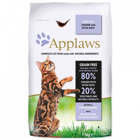 Krmivo Applaws Dry Cat kuře, kachna 7.5kg