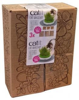 Tráva pro kočky Catit Cat Grass Kit 3x 0,7l