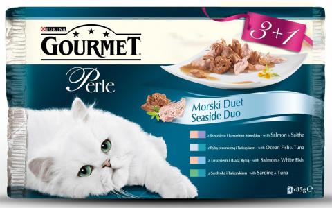 Gourmet Perle Duo Multipack 4x85g Rybí Duo 3+1 zdarma