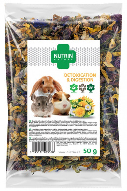 Pamlsek NUTRIN Nature Detoxication & Digestion pro hlodavce 50g