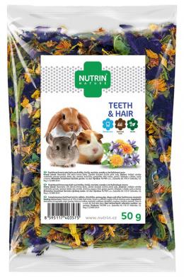 Pamlsek NUTRIN Nature Teeth & Hair pro hlodavce 50g