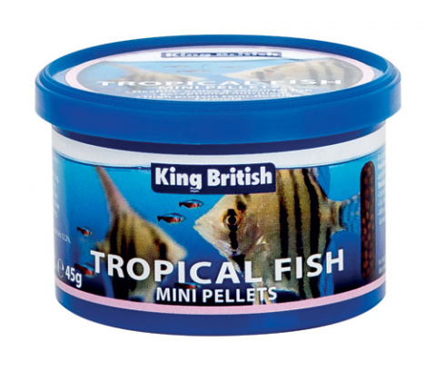 King British Tropical Fish Mini Pellets  45g