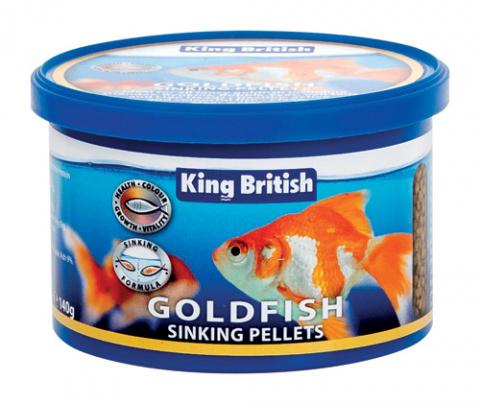 King British Goldfish Sinking Pellets 140g