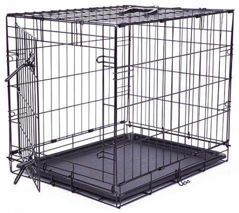 Klec Dog Fantasy skládací S černá 1 dveře 61x48x46cm title=