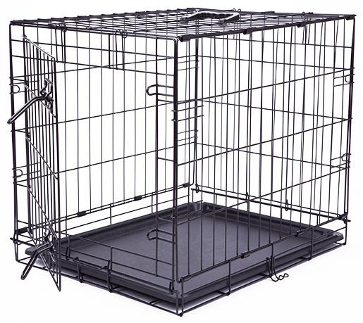 Klec Dog Fantasy skládací S černá 1 dveře 61x48x46cm
