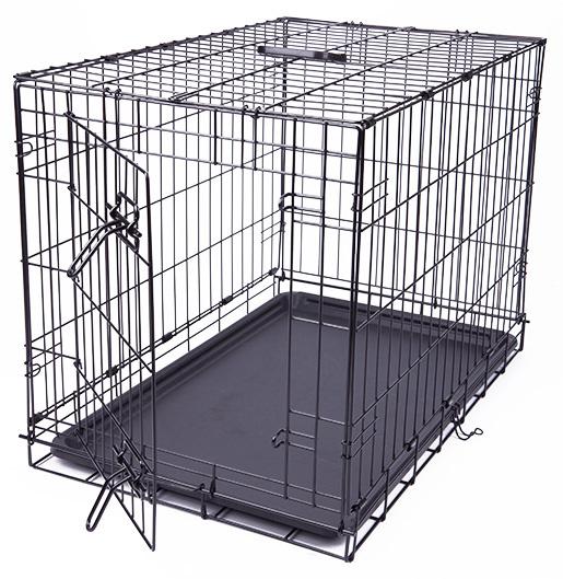 Klec Dog Fantasy skládací M černá 1 dveře 76x53x48cm