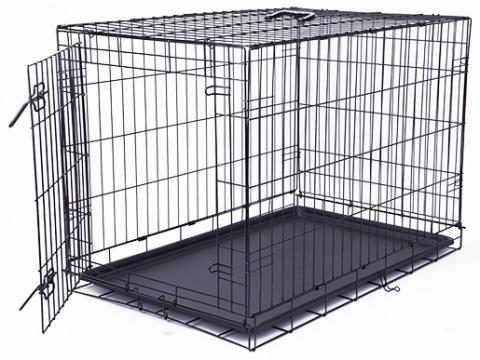 Klec Dog Fantasy skládací L černá 1 dveře 91,5x63,5x58,5cm title=
