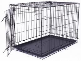 Klec Dog Fantasy skládací L černá 1 dveře 91,5x63,5x58,5cm