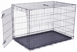 Klec Dog Fantasy skládací XXL černá 1 dveře 122x84x76cm