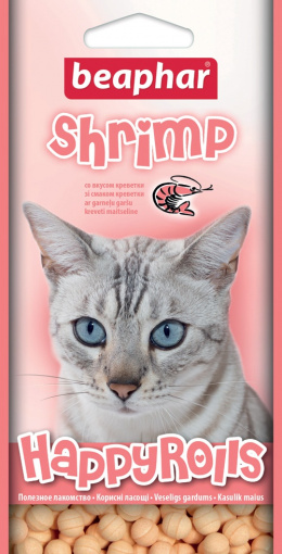 Pochoutka s krevetami Beaphar Happy Rolls Shrimp 80 ks