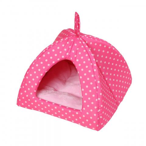 Domeček Iglú Dotty růžový s puntíkem 38 x 38cm