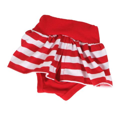 Kalhotky hárací se sukní - červená M