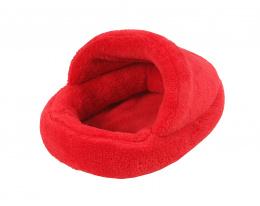 Pelíšek Papuče červený pro hlodavce