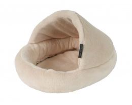 Pelíšek Papuče béžový pro hlodavce