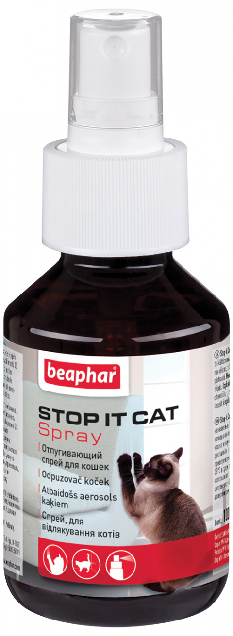 Odpuzovač koček do interiéru Beaphar Stop It 100ml