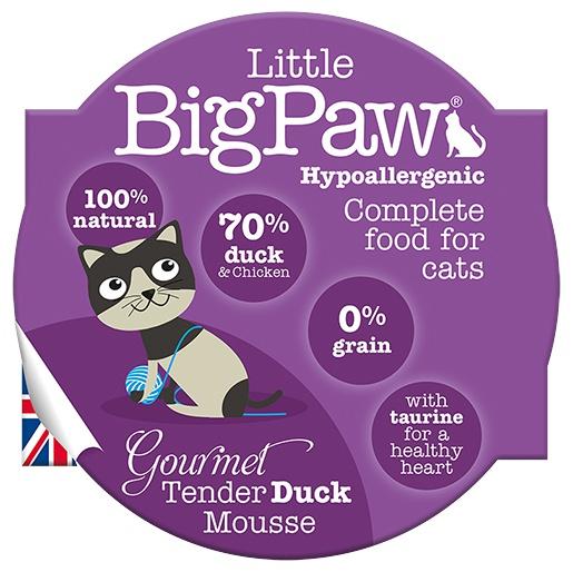 Kalíšek pro kočky Little Big Paw kachna & kuře 85g