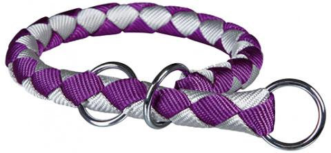 Obojek pro psy Cavo Trixie fialová/stříbrná L-XL 52cm