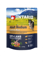 Ontario Adult Medium Lamb & Rice 0.75kg