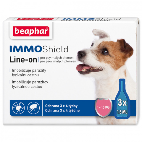 Line-on Beaphar IMMO Shield pes S 3x1,5 ml title=