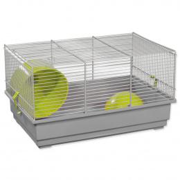 Klec SMALL ANIMAL Richard šedo-zelená s šedou výbavou