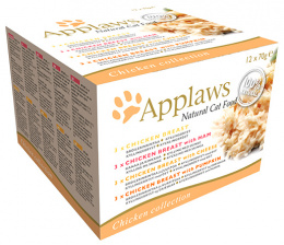 Konzervy APPLAWS Cat Chicken Selection multipack 12 x 70g